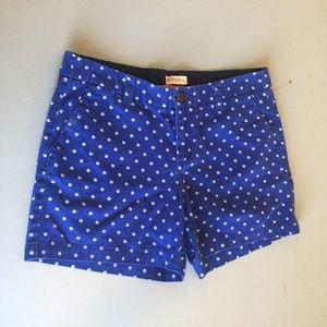 Merona Blue Dot Shorts